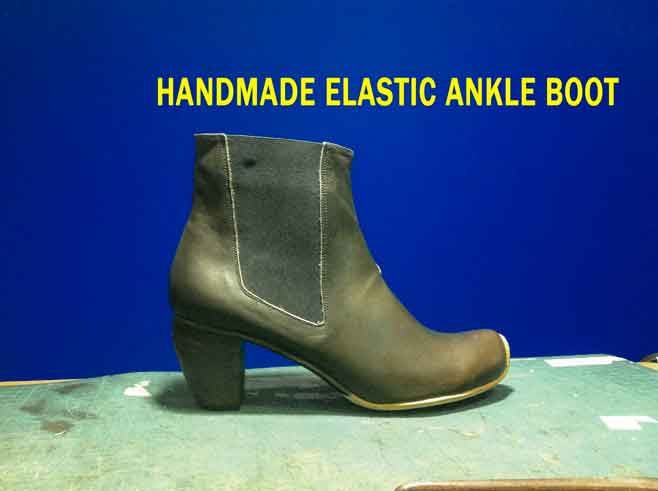 Handmade-elastic-ankle-boot