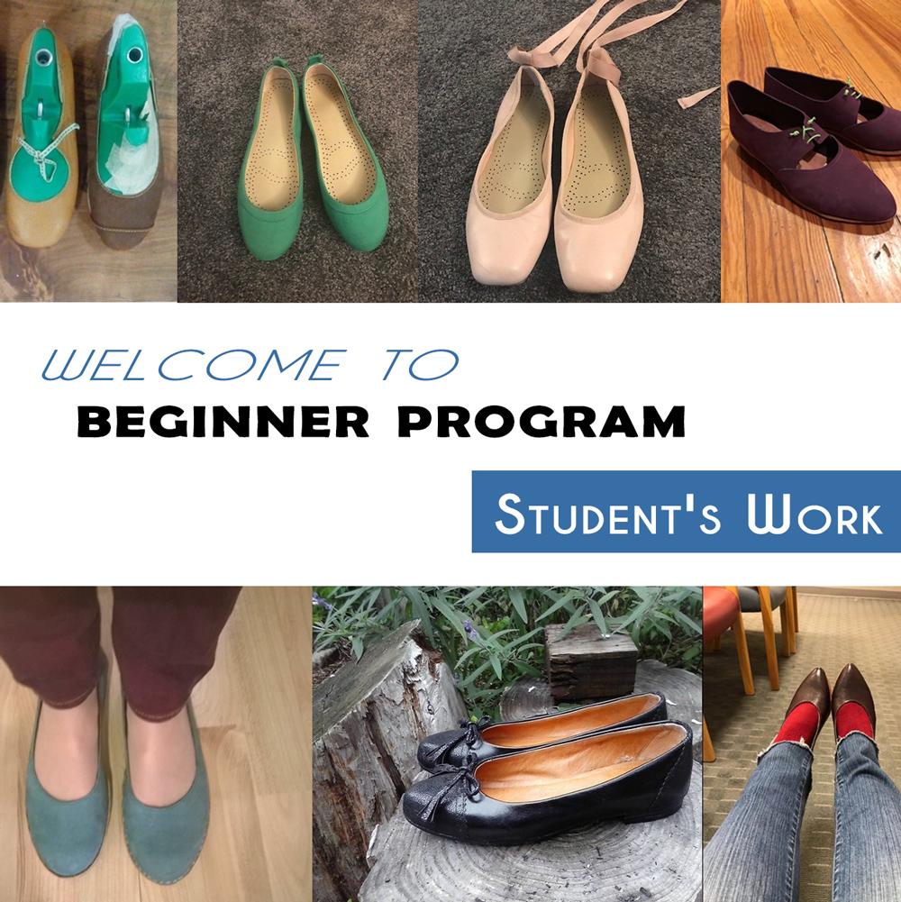 flat ballets, shoemaking students work