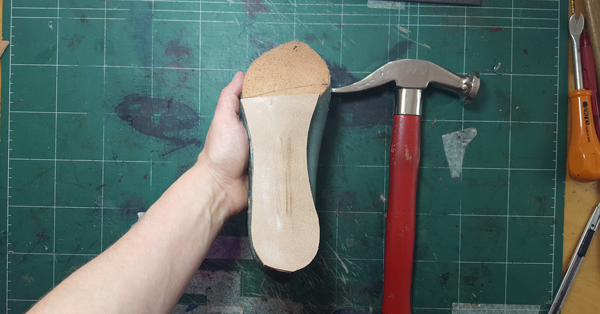all p[arts of insole attached together