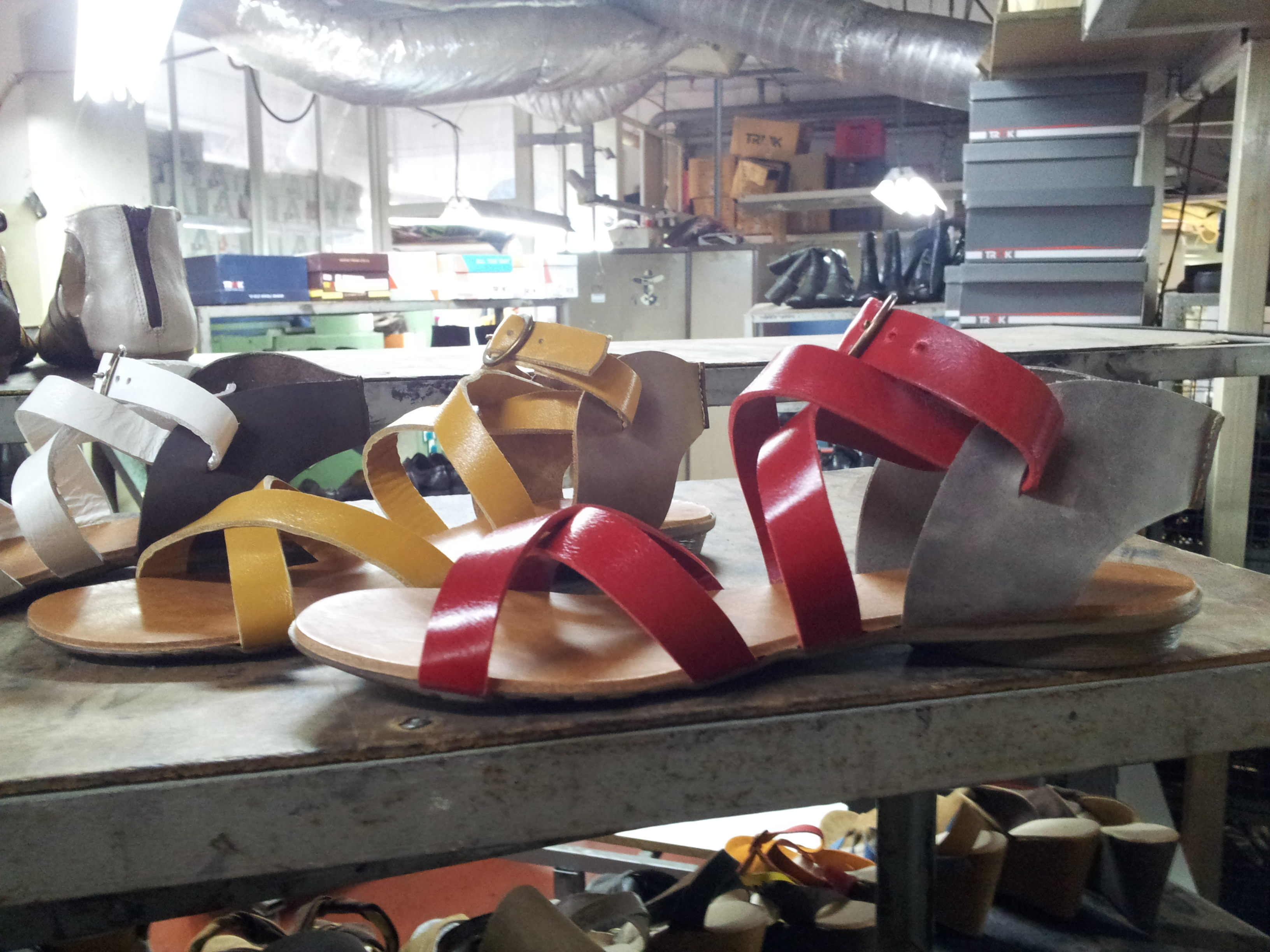 Sandals with wide straps