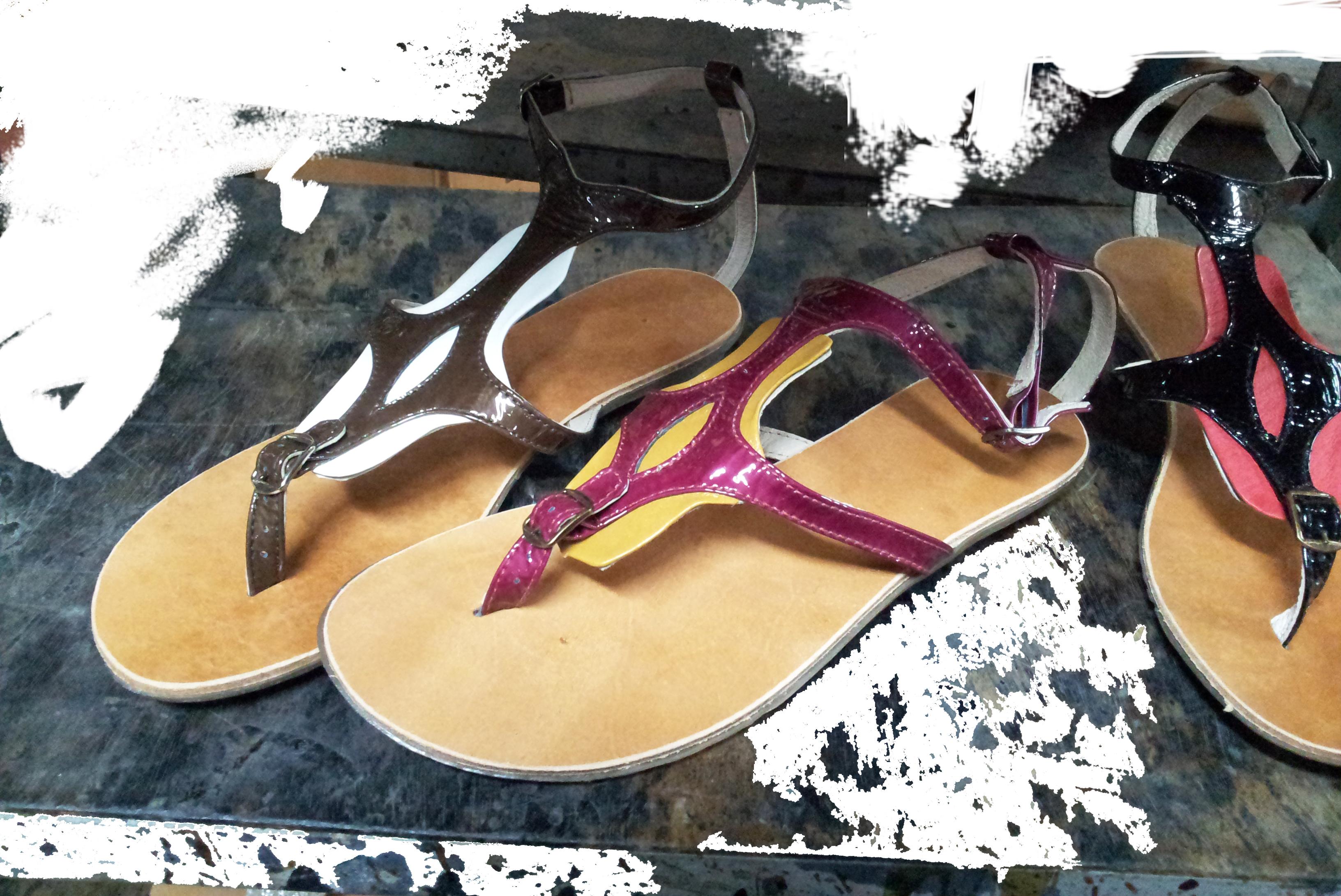 Sandals made