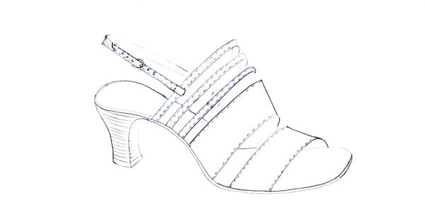 Drawing of sandals