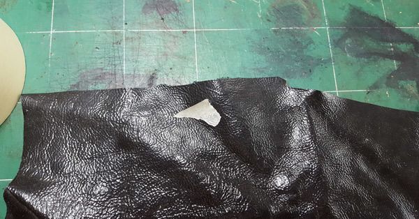 leather for shoes before cut