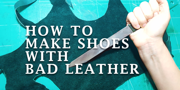 leather for shoemaking and shoemaker knife