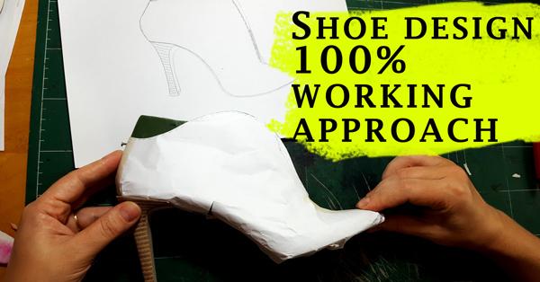 Shoe designing through pattern making