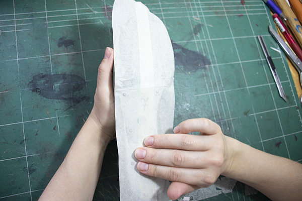 making of the shoe insole pattern