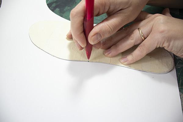 making the sockliner pattern