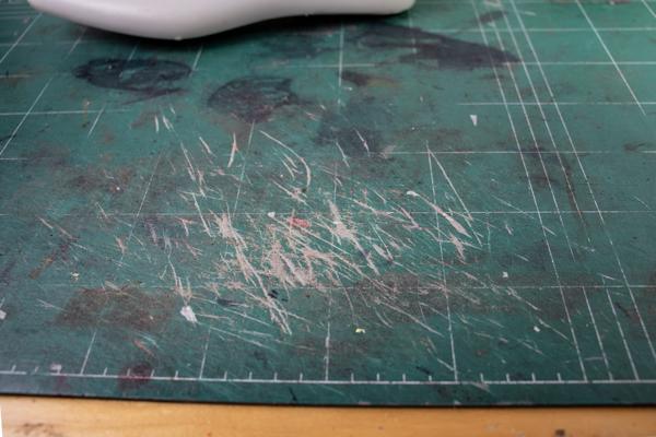 cutting mat for shoe pattern making