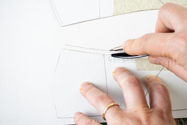adding the seam allowance for folding